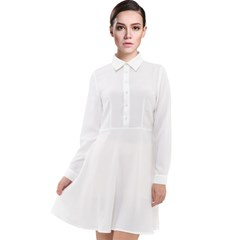 Long Sleeve Chiffon Shirt Dress