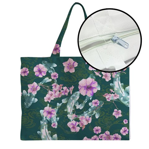 Medium Zipper Tote Bag