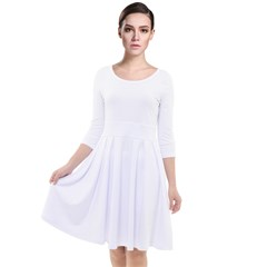 Quarter Sleeve Waist Band Dress