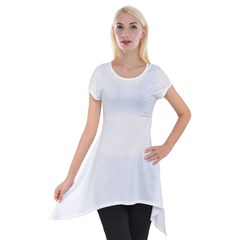 Short Sleeve Side Drop Tunic