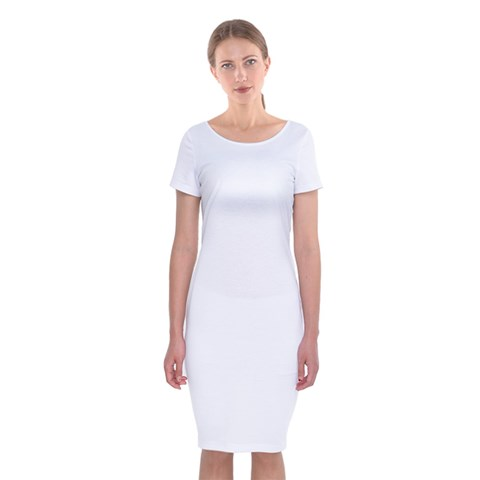 Classic Short Sleeve Midi Dress