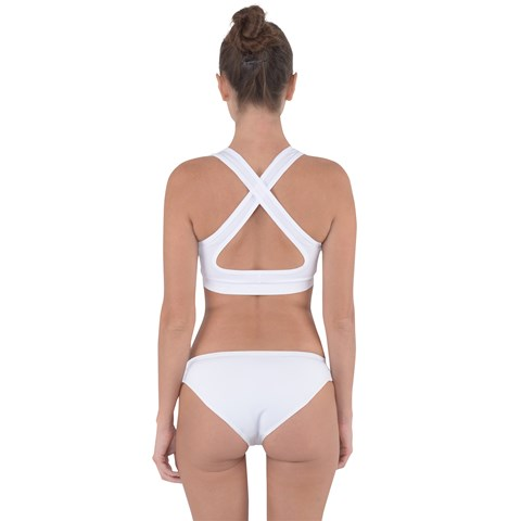 Cross Back Hipster Bikini Set