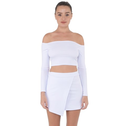 Off Shoulder Top with Mini Skirt Set