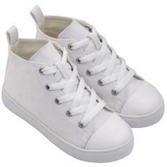 Kids  Mid-Top Canvas Sneakers