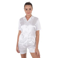 Satin Short Sleeve Pajamas Set