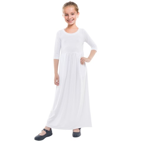 Kids  Quarter Sleeve Maxi Dress
