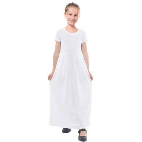 Kids  Short Sleeve Maxi Dress