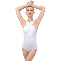 Cross Front Low Back Swimsuit