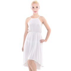 High-Low Halter Chiffon Dress