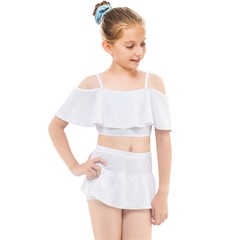 Kids  Off Shoulder Skirt Bikini