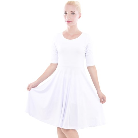 Quarter Sleeve A-Line Dress