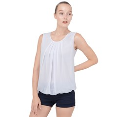 Bubble Hem Chiffon Tank Top
