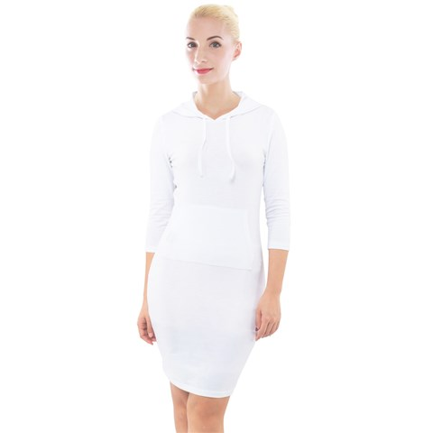 Quarter Sleeve Hood Bodycon Dress