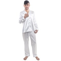 Men s Satin Pajamas Long Pants Set