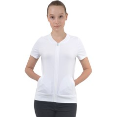 Short Sleeve Zip Up Jacket
