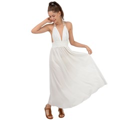 Backless Maxi Beach Dress