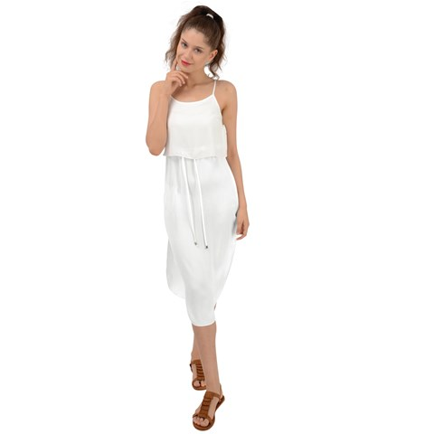 Waist Tie Cover Up Chiffon Dress