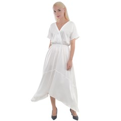 Cross Front Sharkbite Hem Maxi Dress