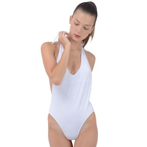 Backless Halter One Piece Swimsuit