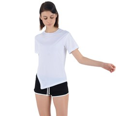 Asymmetrical Short Sleeve Sports Tee