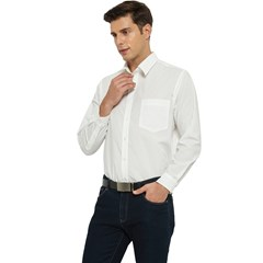 Men s Long Sleeve Pocket Shirt