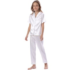Kids  Satin Short Sleeve Pajamas Set