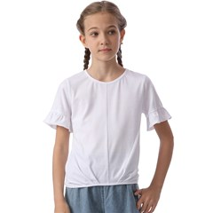 Kids  Cuff Sleeve Scrunch Bottom Tee