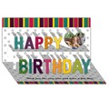 Make Your Own Personalized Happy Birthday 3D Card (8x4)
