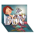 Make Your Own Personalized BOY 3D Card (7x5)