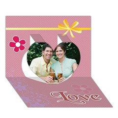 Heart 3D Greeting Card (7x5)