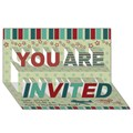 Design Your Own Personalized YOU ARE INVITED 3D Card (8x4)