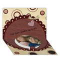 Circle Bottom 3D Greeting Card (7x5)