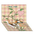 LOVE Bottom 3D Greeting Card (7x5)