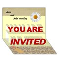 Make Your Own Personalized YOU ARE INVITED 3D Card (7x5)