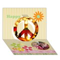 Make Your Own Personalized Peace Sign 3D Card (7x5)