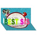 Make Your Own Personalized BEST SIS 3D Card (8x4)
