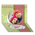 Design Your Own Personalized Circle 3D Card (7x5)