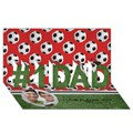 #1 DAD 3D Greeting Card (8x4)