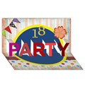 PARTY 3D Greeting Card (8x4)