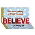 Design Your Own Personalized BELIEVE 3D Card (8x4)