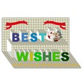 Make Your Own Personalized Best Wishes 3D Card (8x4)