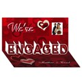 Make Your Own Personalized ENGAGEMENT 3D Card (8x4)