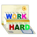 Design Your Own Personalized WORK HARD 3D Card (7x5)