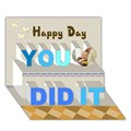 Design Your Own Personalized You Did It 3D Card (7x5)