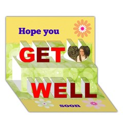 Get Well 3D Greeting Card (7x5)