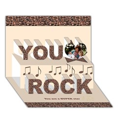 You Rock 3D Greeting Card (7x5)