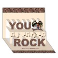 Make Your Own Personalized You Rock 3D Card (7x5)