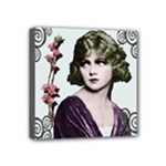 Art Deco Woman in Purple Velvet Mini Canvas 4  x 4  (Stretched)