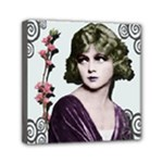 Art Deco Woman in Purple Velvet Mini Canvas 6  x 6  (Stretched)
