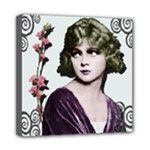 Art Deco Woman in Purple Velvet Mini Canvas 8  x 8  (Stretched)